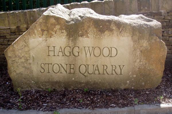 Hagg Wood Stone Quarry Sign