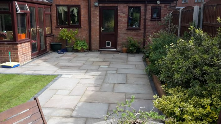 Natural Sandstone Paving - Autumn Brown