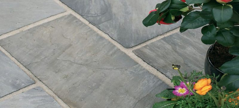 Natural Sandstone Paving - Black