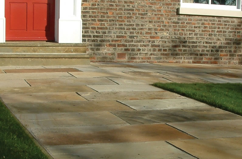 Natural Sandstone Paving - Mint Fossil