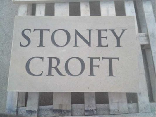 Stone House Name Plate - Stoney Croft
