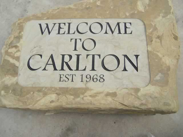 Stone House name Signs- Welcome to Carlton