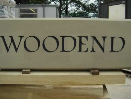Stone House Name Plates - Woodend