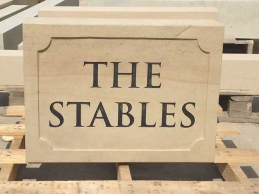 Engraved Stone House Name Plaque - The Stables