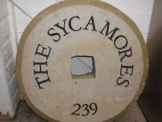 Free Standing Stone House Name Signs - The Sycamores