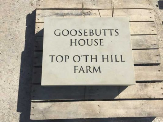 Stone Name Plaque - Goosebutts House