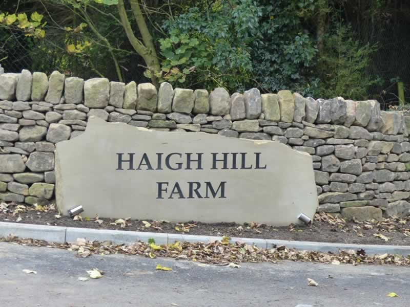 Haigh Hill Farm Stone Sign