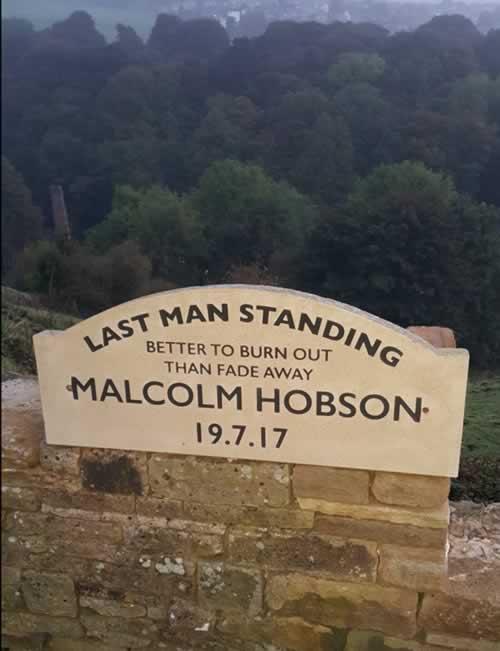 Malcolm Hobson Stone Memorial Plaque